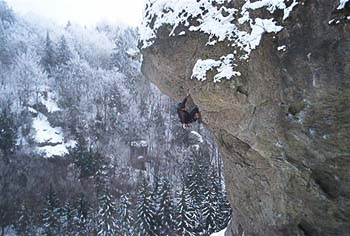 Climbing in cold weather