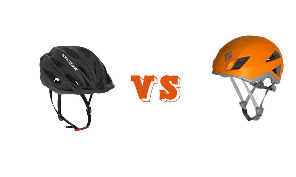 Climbing Helmet vs bike Helmet