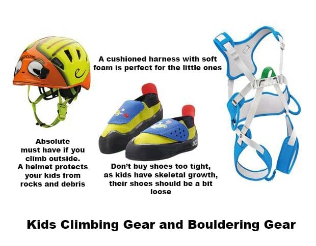 Kids climbing and bouldering tips
